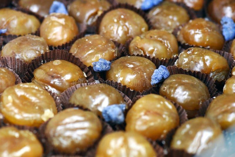 糖渍的栗子或的marron 库存图片