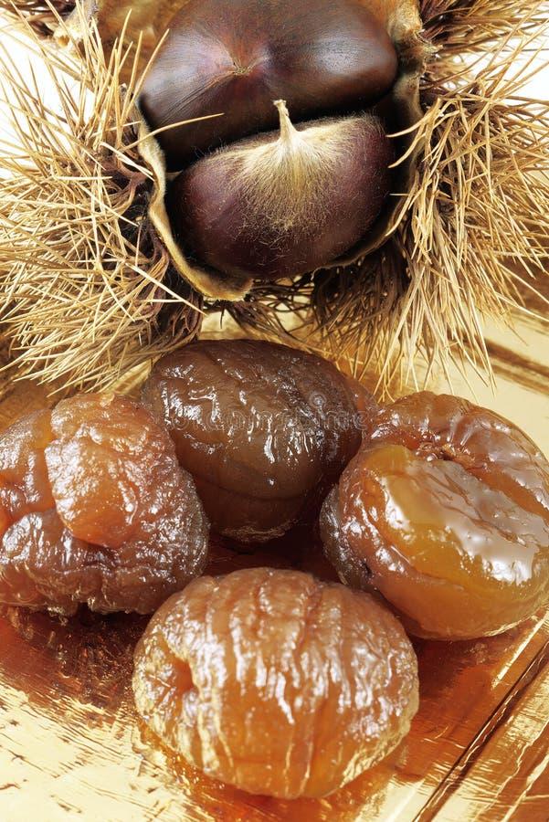 糖渍的marron垂直 库存图片
