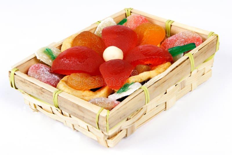 糖煮的干果子 免版税库存照片
