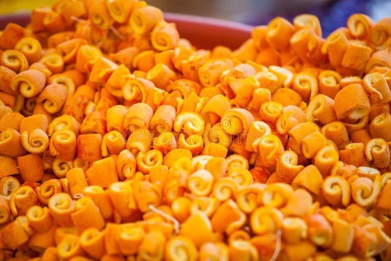 糖煮的橙皮 免版税图库摄影