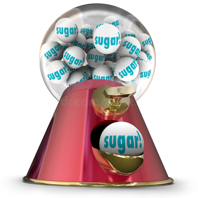 糖警车顶灯糖果分配器Bubblegum蛀牙 向量例证