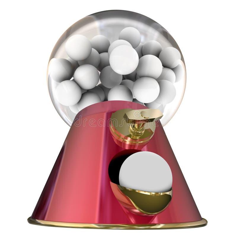 糖警车顶灯糖果分配器Bubblegum蛀牙 库存例证
