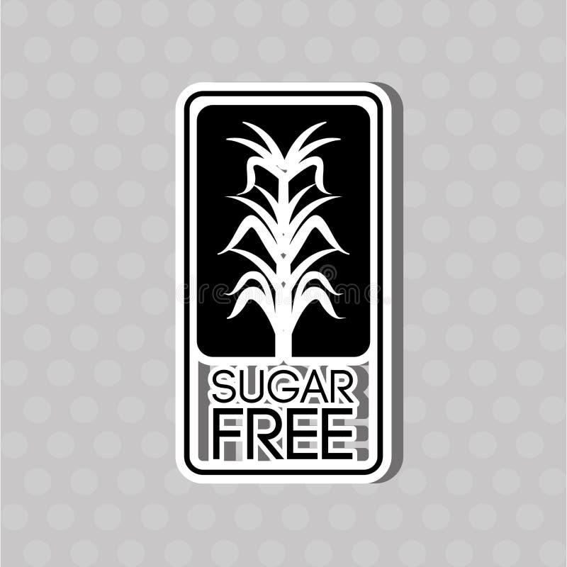 糖释放设计 库存例证
