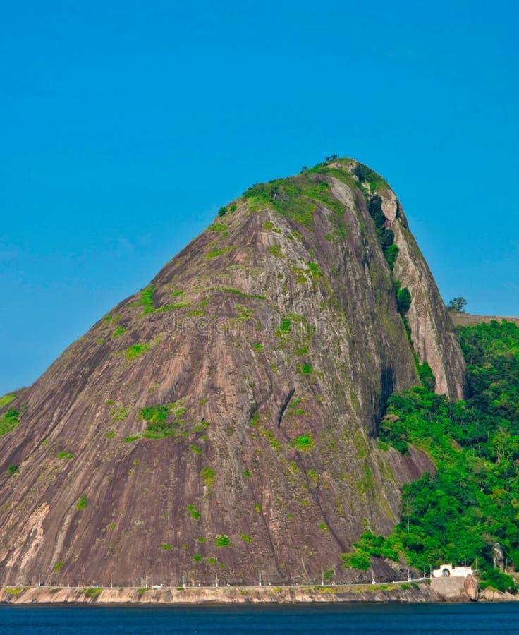 糖面包山在里约热内卢,巴西 库存图片