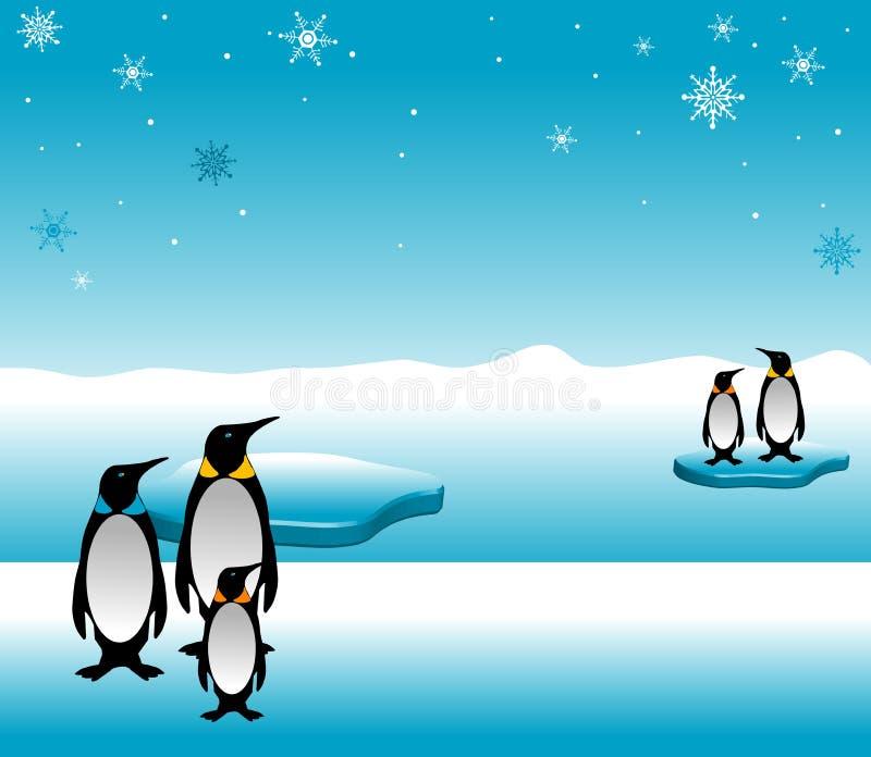 系列企鹅 库存例证