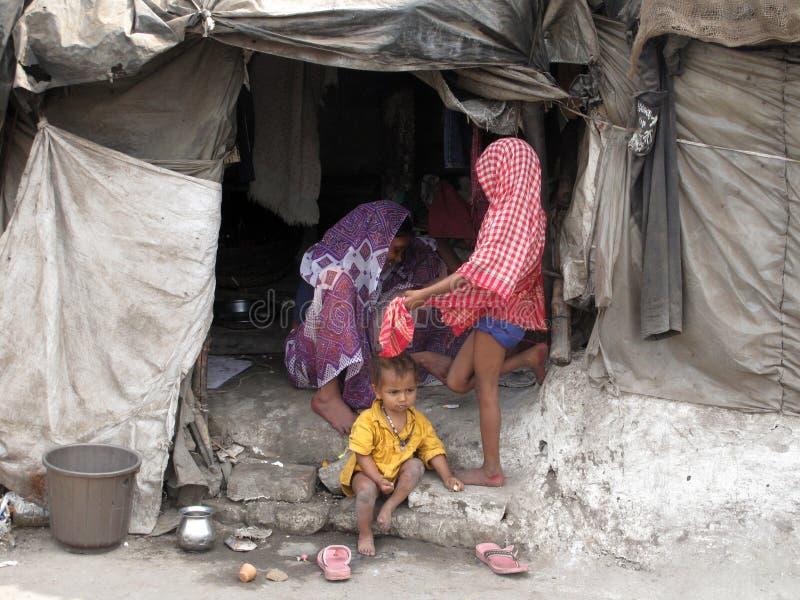 系列印第安贫寒 图库摄影
