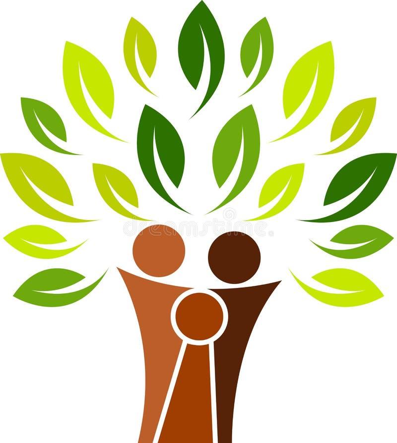 系列徽标结构树 皇族释放例证