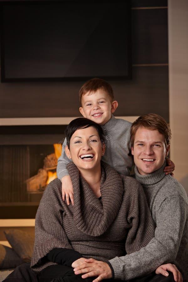 系列愉快的家 免版税图库摄影