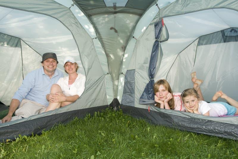 系列愉快的帐篷 库存照片
