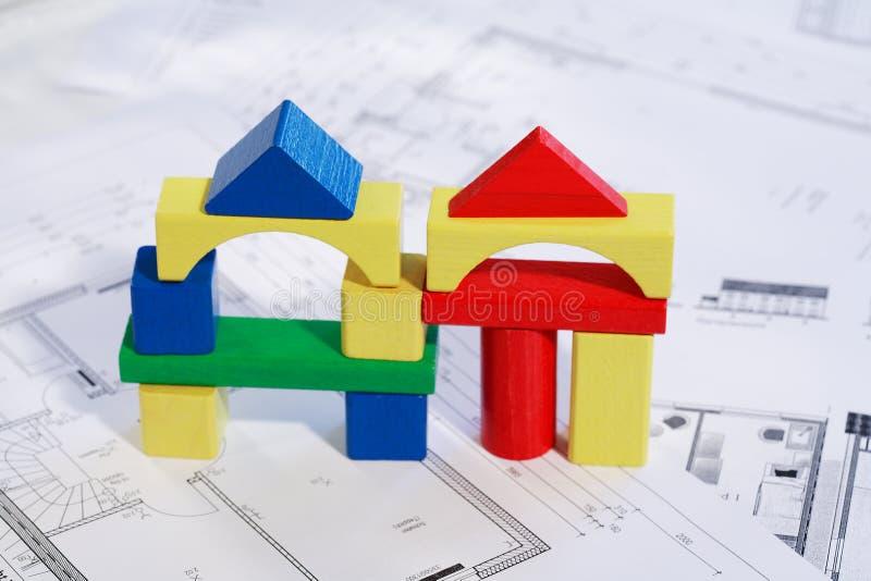 系列房子新的计划 图库摄影