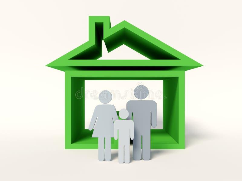 系列房子 向量例证
