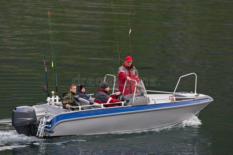 系列捕鱼 免版税库存照片