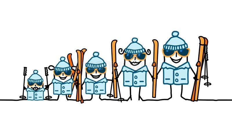 系列滑雪 皇族释放例证