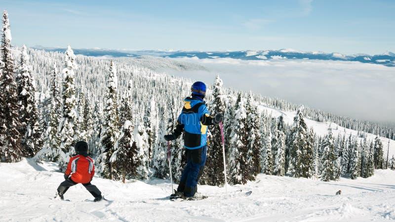 系列滑雪 库存照片