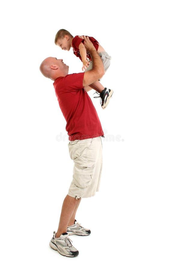系列父亲儿子 免版税库存照片