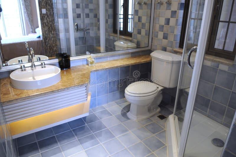 系列现代洗手间 免版税库存图片