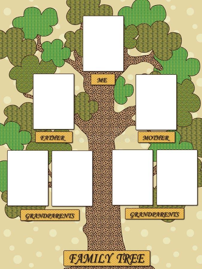 系族树 向量例证