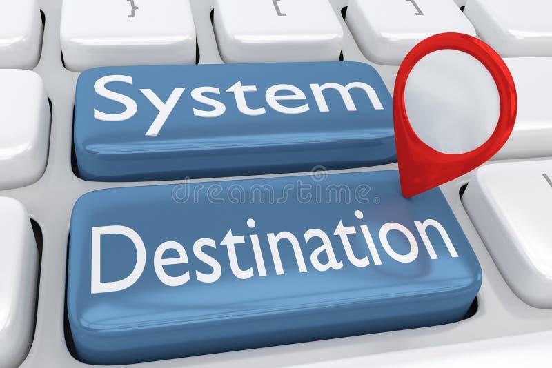 系统目标概念 皇族释放例证