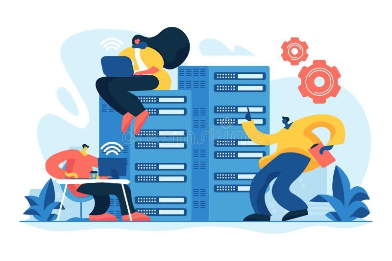 系统管理概念传染媒介例证 库存例证