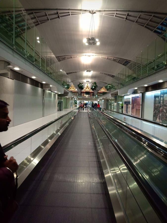 素万那普机场,曼谷,泰国, 免版税库存图片