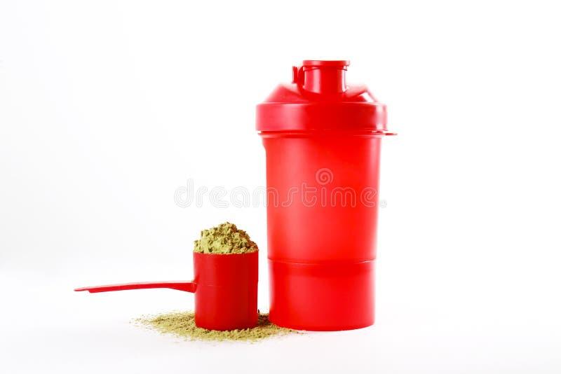 素食主义者体育食物补充 健康惨暴自由生活方式的大麻蛋白质 库存照片