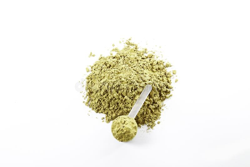 素食主义者体育食物补充 健康惨暴自由生活方式的大麻蛋白质 库存图片