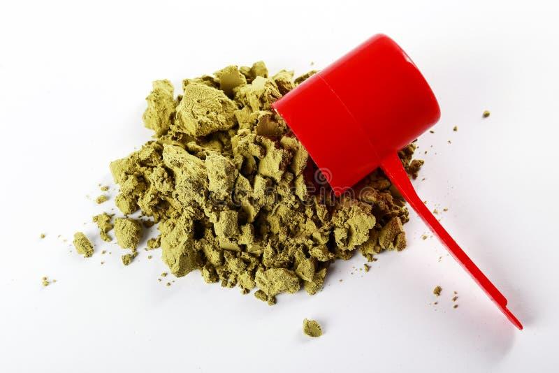 素食主义者体育食物补充 健康惨暴自由生活方式的大麻蛋白质 免版税库存图片