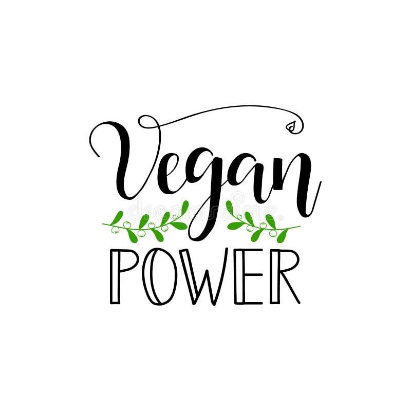 素食主义者力量 关于素食主义者的激动人心的行情 印刷品和海报的字法 皇族释放例证
