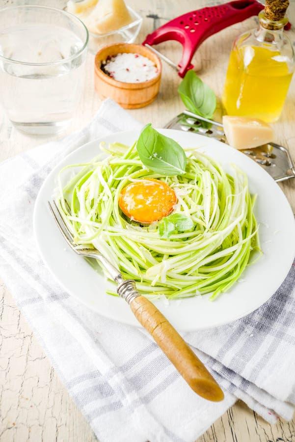 素食主义者夏南瓜意粉面团 免版税图库摄影