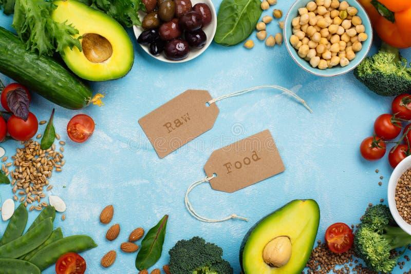 素食主义者或未加工的食物的饮食 图库摄影