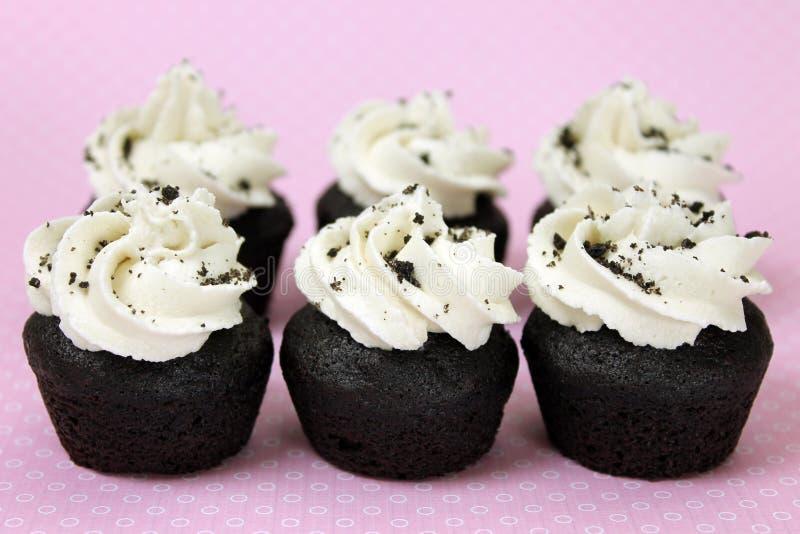 素食主义者曲奇饼n奶油色微型杯形蛋糕 图库摄影