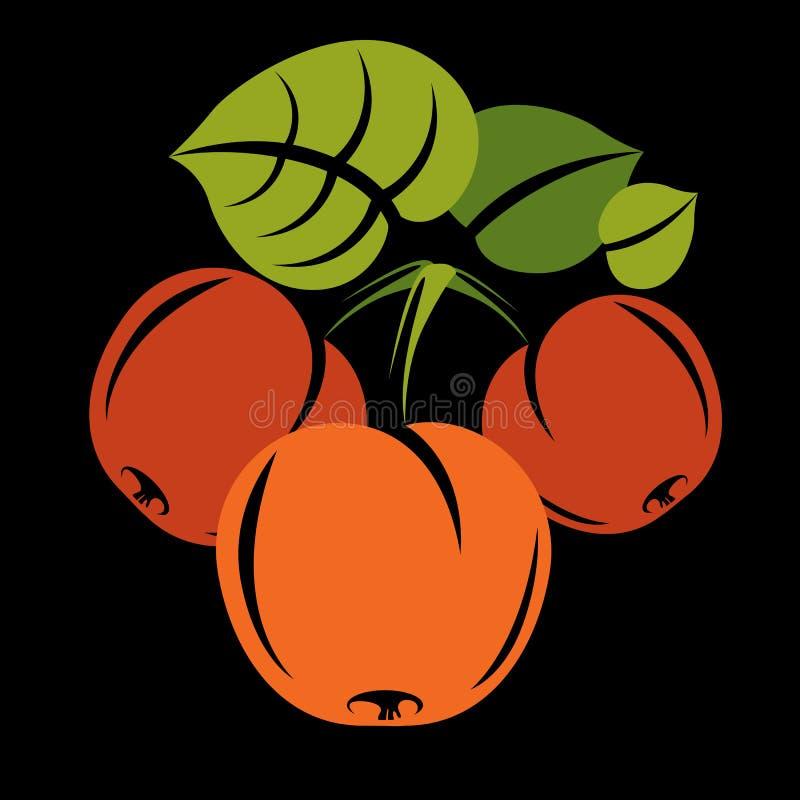 素食有机食品简单的例证,导航成熟桔子 向量例证