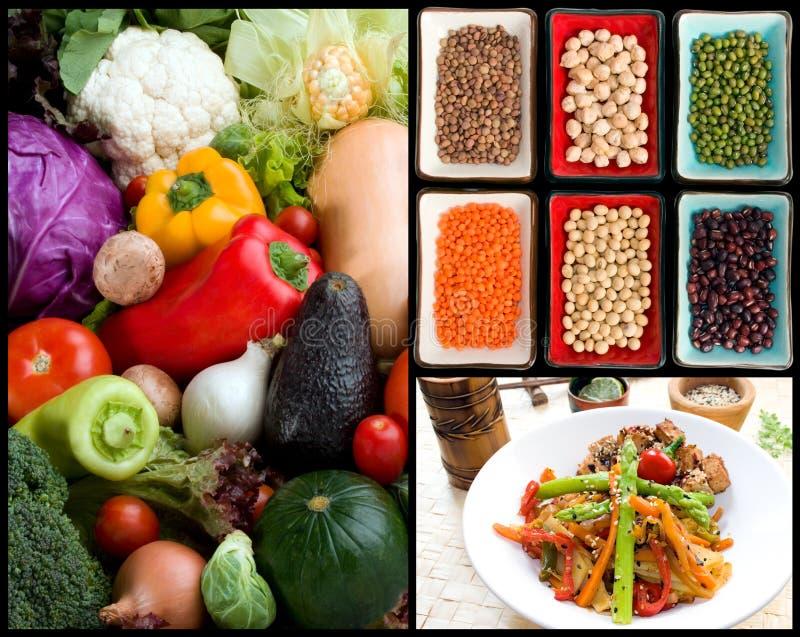 素食的食品成分 免版税库存照片