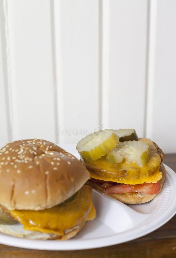 素食者汉堡 图库摄影