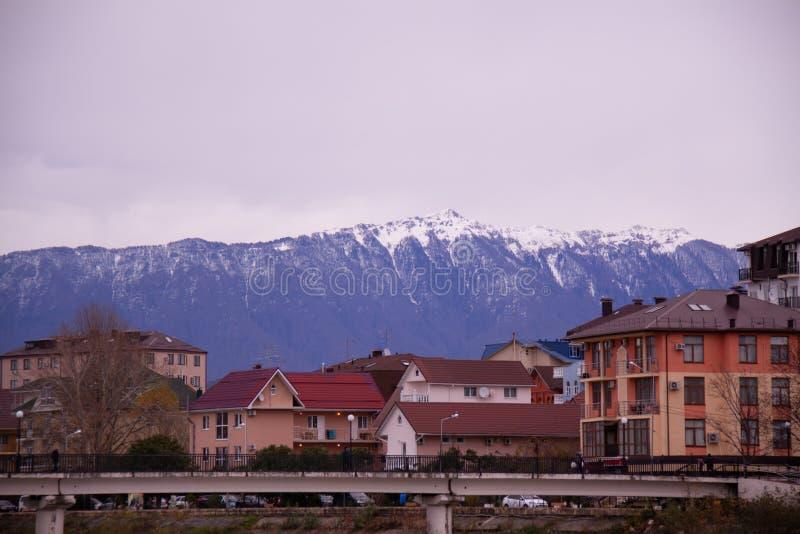 索契区爱德乐在冬天 图库摄影