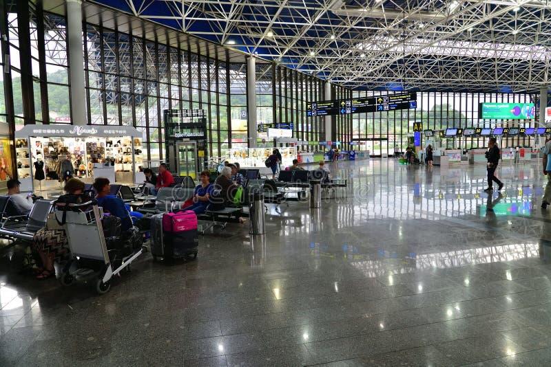 索契,俄罗斯- 6月6 2018年 等待的大厅在国际机场爱德乐 库存图片
