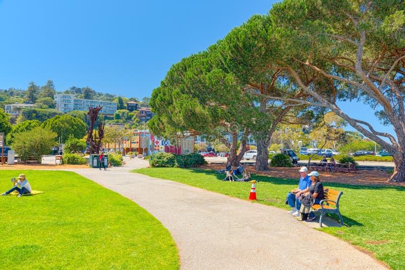 索萨利托是一个城市在马林县,加利福尼亚 免版税库存图片