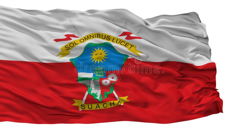 索阿查市旗子,哥伦比亚,昆迪纳马卡省部门,隔绝在白色背景 库存例证