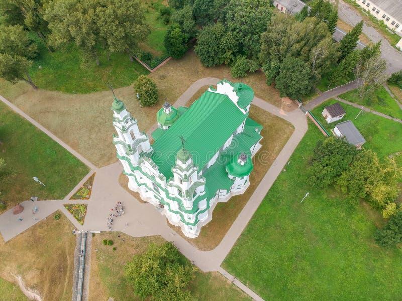 索非亚大教堂在波罗兹克,白俄罗斯 免版税库存照片