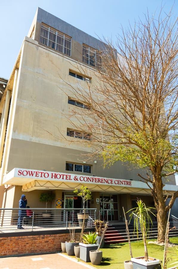 索韦托旅馆和会议中心外部看法在索韦托,南非历史的地区的心脏  图库摄影