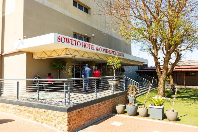 索韦托旅馆和会议中心外部看法在索韦托,南非历史的地区的心脏  免版税库存照片