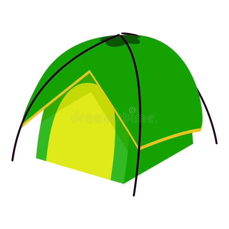 紧凑帐篷象,等量3d样式 库存例证