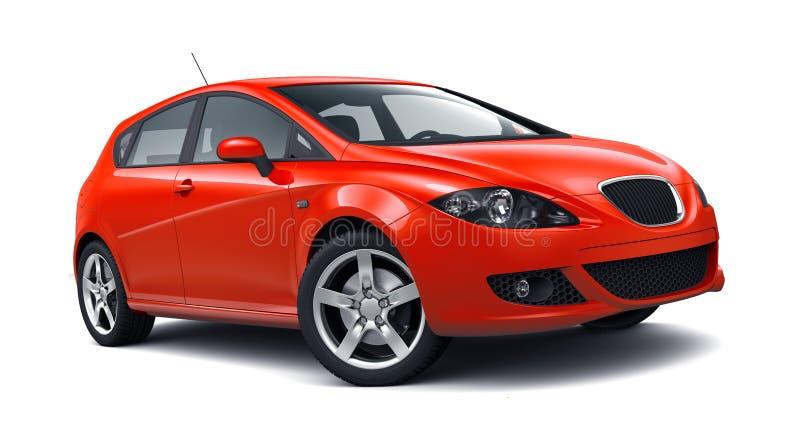 紧凑斜背式的汽车汽车 库存例证