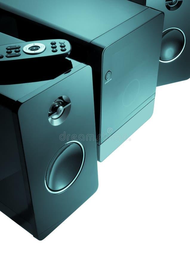 紧凑立体音响系统 免版税库存照片