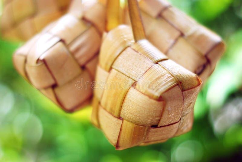 紧凑糯马来的米 免版税库存图片