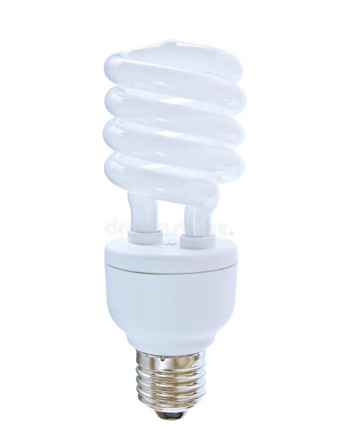 紧凑萤光电灯泡 库存例证