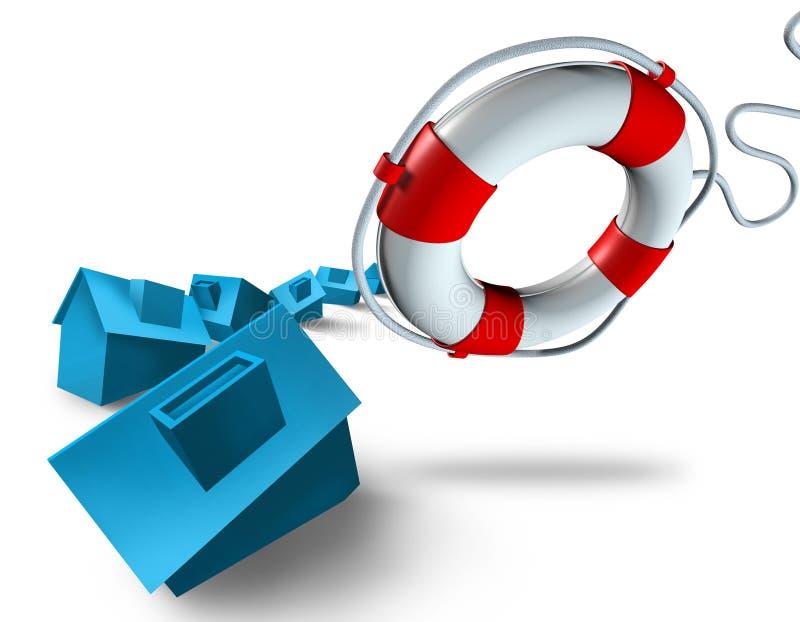 紧急住房付款计划 向量例证