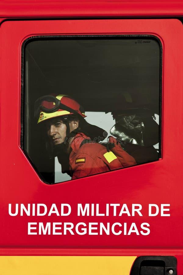 紧急军事西班牙ume部件 图库摄影