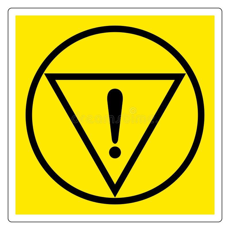 紧急刹车标志标志,传染媒介例证,在白色背景标签的孤立 EPS10 库存例证