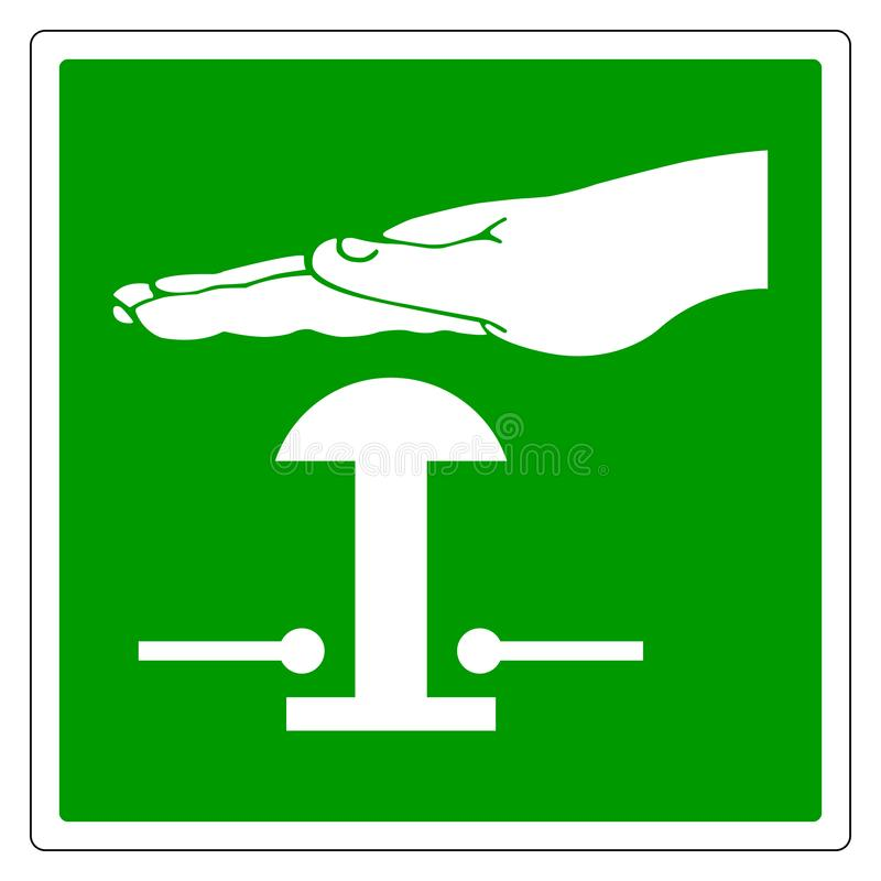 紧急刹车标志标志,传染媒介例证,在白色背景标签的孤立 EPS10 向量例证